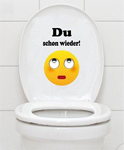 Preisvergleich Produktbild WC Aufkleber - Du schon wieder! Smiley Toilettendeckel A069