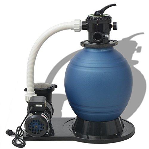 vidaXL Sandfilter 1000W 16800L/h Poolfilter Sandfilteranlage Filteranlage