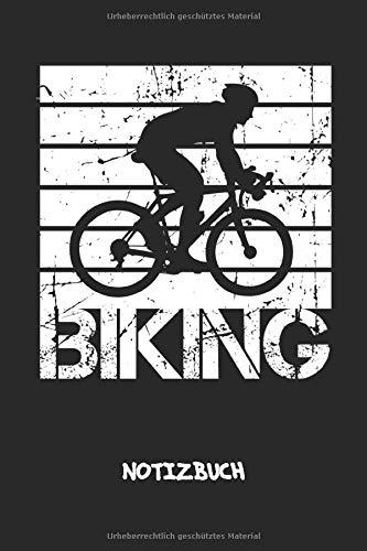Erwachsenen-trikots (Biking: NOTIZBUCH A5 Liniert Radfahrer Schreibblock - Notizblock 120 Seiten 6x9 inch Tagebuch für Erwachsene - Retro Radsportler Notizheft Fahrrad Trikot Fahrradfahrer Geschenk)