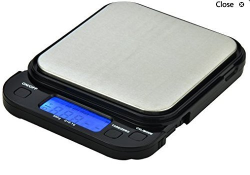 500 Gram Backlit Pocket Scale Pull Out Display Big Tray by US Balance by US-Balance - Pull-out Tray