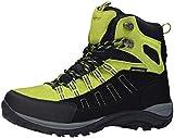 riemot Scarpe da Trekking Donna Uomo Alte Scarponi da Montagna Impermeabili Leggero e Traspiranti Scarponcini da Escursionismo Passeggio Arrampicata Sportiva All'aperto Nero/Verde 45 EU