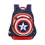 Borsa Captain America - Zaino Grande Capienza Cresta Capitan Tesoro Blu Taglia 32 * 17 * 42