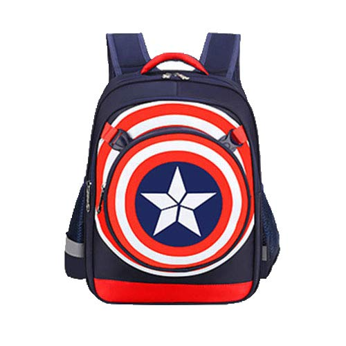 Captain America Bag Ridge Rucksack Mit Großer Kapazität Kapitän Schatz Blaue Trompete 28 * 15 * 39 - Captain America-fahrrad