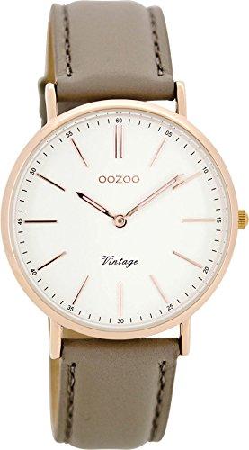 Oozoo Damen Digital Quarz Uhr mit Leder Armband C8143