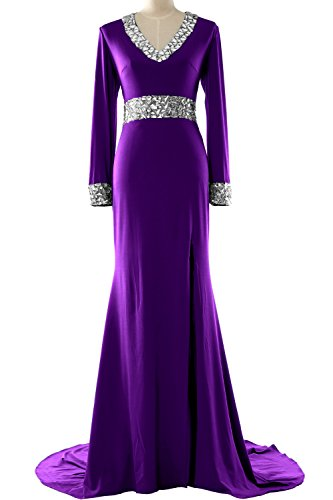 MACloth - Robe - Moulante - Manches Longues - Femme Violet - Violet