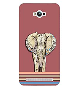 PrintDhaba Elephant D-5492 Back Case Cover for ASUS ZENFONE MAX ZC550KL (Multi-Coloured)