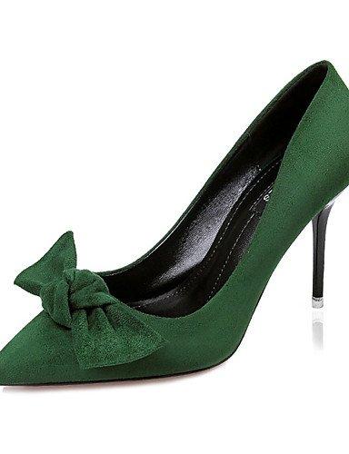 WSS 2016 Chaussures Femme-Décontracté-Noir / Vert / Gris / Bordeaux / Kaki-Gros Talon-Talons-Talons-Laine synthétique khaki-us5 / eu35 / uk3 / cn34