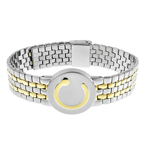 Bioflow Elite Two Tone Magnetic Bracelet Mens 140 - 220mm