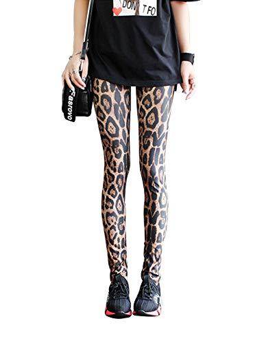 Jueshanzj - Leggings Camuflaje Estampados Mujer Leopardo
