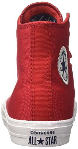 Converse Ctas Ii Hi, Sneakers Mixte Enfant Rouge (Salsa Red/white/navy)
