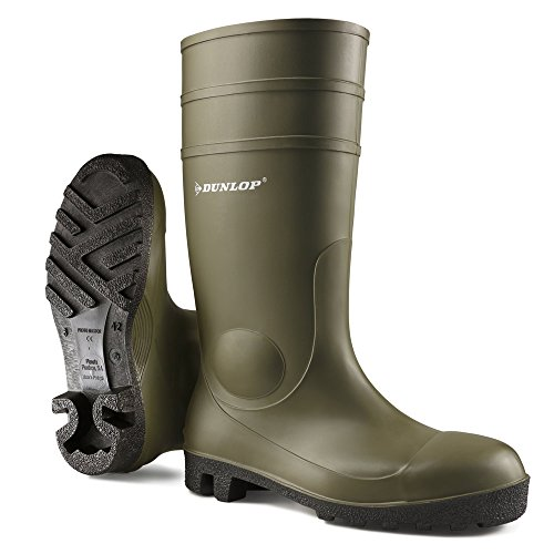 Dunlop 142V08440 142PP Protomaster Stiefel S5, 44, Grün (Heel Stiefel Medium)