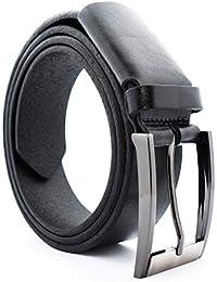 b464549cd6ce26 Albrecht Leder schwarzer Gürtel für Herren aus Vollleder mit Stretch,  Ledergürtel für Anzug und Jeans, Echtes…