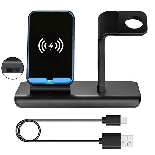 WEISHAZI 10W 2 In 1 Qi Wireless Fast Charger Ständer Dock Für IPhone X XS XR 8 Plus Samsung Huawei Mate 20 Cradle-Halter Für Apple Watch 1/2/3/4 Serie