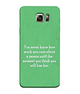 PrintVisa Designer Back Case Cover for Samsung Galaxy S6 Edge+ :: Samsung Galaxy S6 Edge Plus :: Samsung Galaxy S6 Edge+ G928G :: Samsung Galaxy S6 Edge+ G928F G928T G928A G928I (Care For a Person Words Wordings)