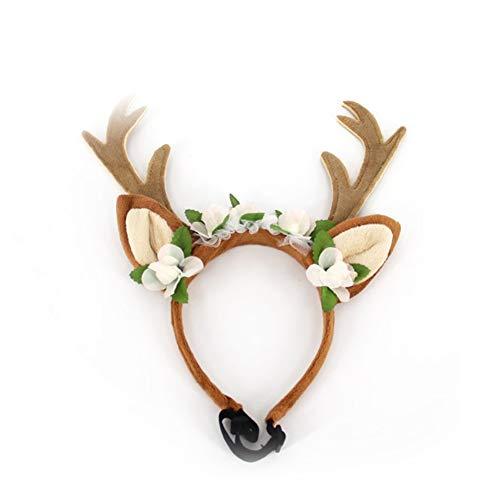 Rocita Stirnband mit Rentier-Geweih und Hörnern, Halloween, Ostern, -