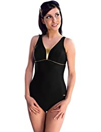 Gwinner Damen Badeanzug - Einteilig - Mit Herausnehmbaren Körbchen - Resistent Gegen Chlor Und UV - #Gwn Anika