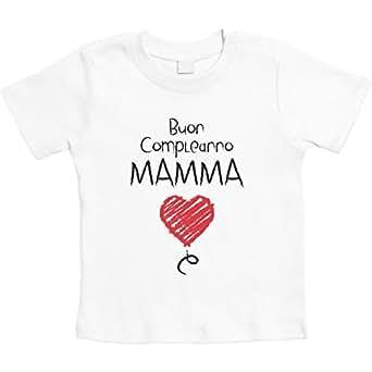 Buon Compleanno Mamma Dolce E Tenera Idea Regalo Maglietta Neonato