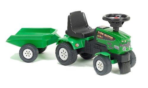 Falk 1081B - Tractor correpasillos con remolque, color verde