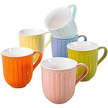 Panbado, Tazas de café Tazas de Porcelana, Set de 6 Tazas Mocha, Tazas