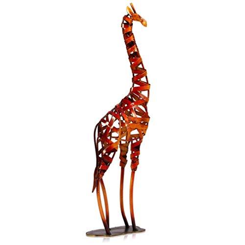 MAIAMY Escultura Moderna Animales Estatua Jirafa Trenzada