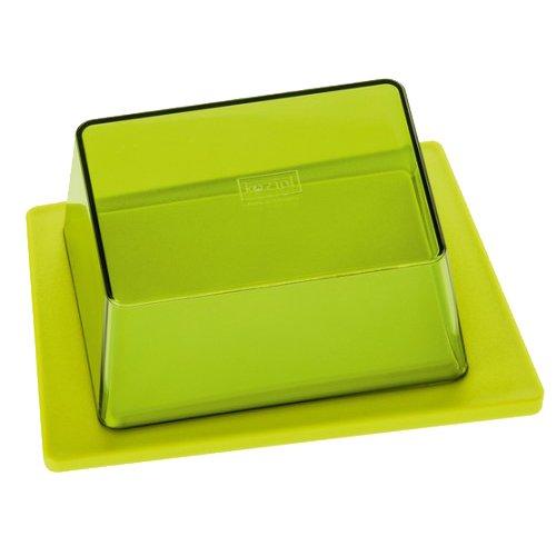 koziol beurrier Kant, thermoplastique, vert moutarde et vert olive transparent, 12 x 16,5 x 6,9 cm