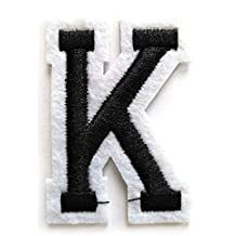 26 parches de letras bordadas A-Z; insignia de fieltro alfabeto para coser o planchar para