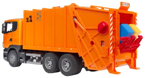 Image of Bruder 3560 Scania R-Series Garbage Truck (Orange)