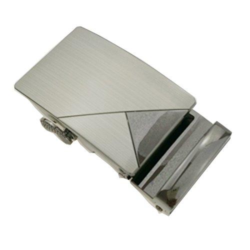 Los hombres de diseño de lujo automatico cuero hebilla de trinquete sólido hebilla de cinturon de metal hebilla hebillas automáticas, jefes (B01)
