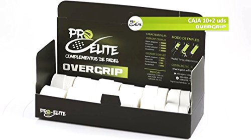 6f37e7ef03 overgrips Pro Elite Confort Perforados Blancos. Caja 10+2 unds.
