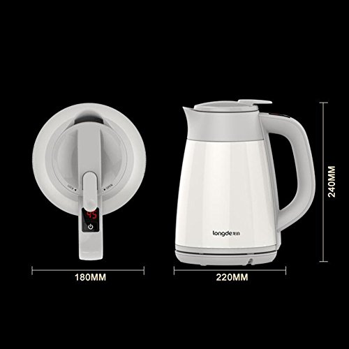 GPC Vacuum Insulation Electric Kettle 304 Stainless Steel Double Anti-Scald Kettle 1.5L 1800W Electric Kettles