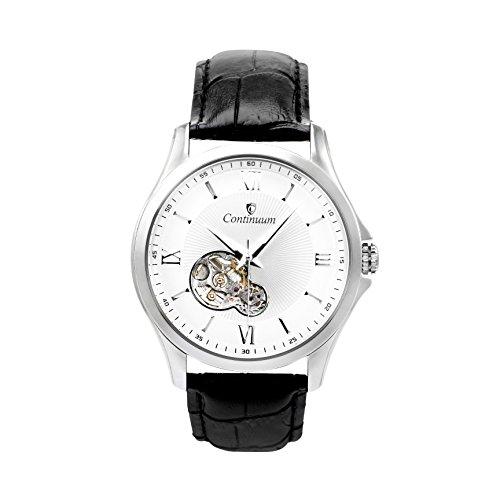 Continuum Herren-Armbanduhr Automatik Analog Leder Schwarz - C15H21