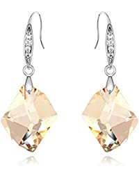 Young & Forever Mothers Day Gifts Aurora Golden Shadow Crystals From Swarovski Drop & Dangle Earrings For Women...