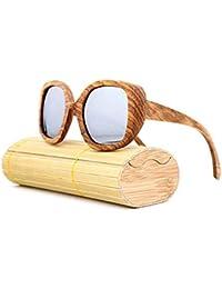 717aa28cbd JiaCH Gafas de Sol polarizadas Hechas a Mano de bambú Gafas de Sol Retro  con Montura Grande de Madera Gafas de Sol de Madera de…