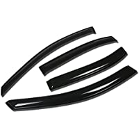Hyundai Sonata NF 4DR 4pcs Window Vent Visor Deflector Rain Guard (Dark Smoke) by Auto Dynasty