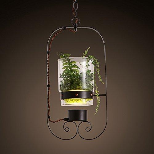 SSBY Industrial-lo stile unico di fiori e di elementi decorativi lampadari lampadario bay window ristorante, (Lanterna Muro Bay)