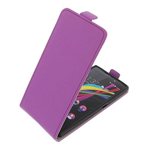 foto-kontor Tasche für Wiko Highway Star Smartphone Flipstyle Schutz Hülle lila
