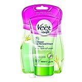 Veet Dusch-Haarentfernungscreme Silky Frech, Schnelle & Effektive Haarentfernung für unter der Dusche, 1 X 150 ml Tube Mit Schwamm