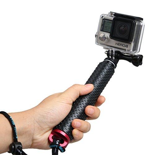 """LENDOO Gopro Bastone Selfie,Telescopico Selfie Stick per GoPro Hero 5 Hero 4 Hero 3+ Hero 3 Hero 2 /Xiaomi YI,DBPOWER,SJ7000/6000/5000/4000 e altri dispositivi con 1/4"""" Camera (Rosso)"""