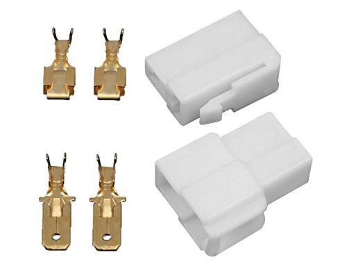 10x Gehäuse 2 polig Stecker 6,3mm Flachsteckhülsen Flachstecker Steckergehäuse -