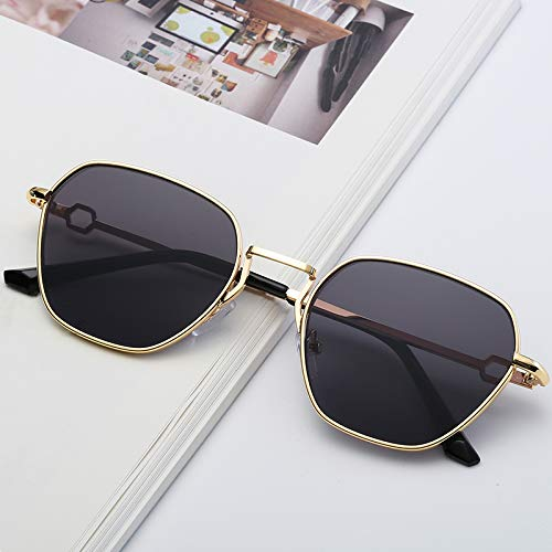 LXQ Polygonale Retro-Sonnbrille Metal-Marine-Film Sonnenbrille Flut nehmen,h