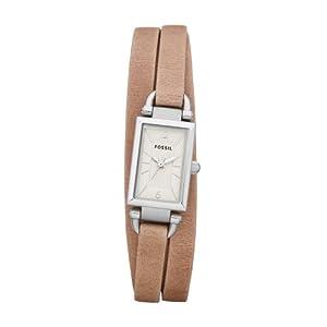 Reloj Fossil JR1370 de cuarzo para mujer con correa de piel, color beige de FOSSIL