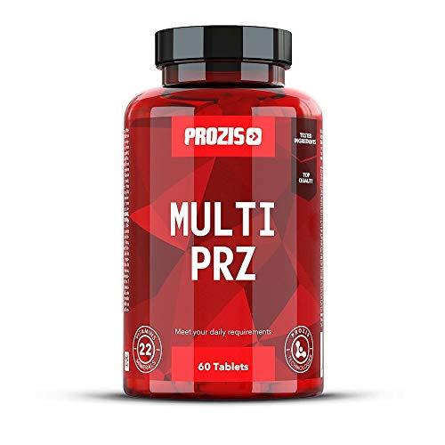 Prozis Multi PRZ - Multivitamin - 22 Vitamine - Vitamine A/E/D/B12/K/B6/C - kombiniert Vitamine und Mineralien zur Unterstützung der allgemeinen geistigen und körperlichen Gesundheit - 60 Tabletten