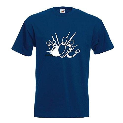 KIWISTAR - Bowling Strike Kegeln T-Shirt in 15 verschiedenen Farben - Herren Funshirt bedruckt Design Sprüche Spruch Motive Oberteil Baumwolle Print Größe S M L XL XXL Navy