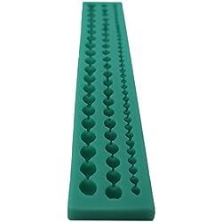 Molde de silicona joyliveCY para cadena de perlas decorativas para pasta de azúcar fondant
