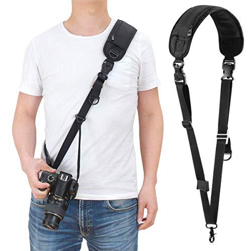 waka Kameragurt schnellverschluß Neopren Schwarz Kamera Tragegurt Verstellbarer Schultergurt Gurt Camera Strap für Canon Nikon Sony Fujifilm Olympus DSLR SLR - Strap Sony Kamera Neck