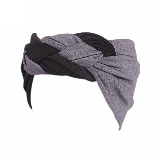 Kobay fascia per capelli ampia da donna con elastico in vita da donna