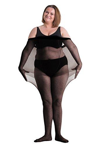 All Woman 20-den-Strumpfhose Übergröße, EINZELSTÜCK (50/60, Schwarz) (Strumpfhosen Size Schwarz Plus)