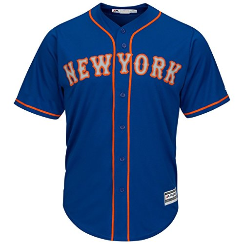 Majestic New York Mets Cool Base MLB Trikot Alternate Road Blau (M)