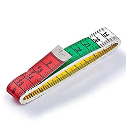 Prym Maßband Color 150 cm/cm, Poly-Fiber-Gewebe, gelb, farbige Dezimeter-Zonen