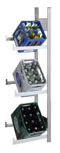 Getränkeregale Lichtgrau mit 3 Ebenen für min. 3 Kästen (Anbauregal)